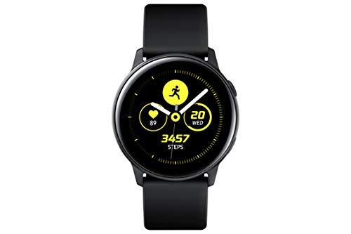 Samsung Galaxy Watch Active (40 mm, GPS, Bluetooth) Reloj Inteligente con Seguimiento de Actividad física y análisis del sueño – Negro (versión de EE. UU.)
