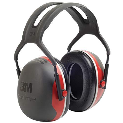 3M Peltor X-Series Protectores Supraauriculares, NRR 28 dB, Unitalla, Negro/Rojo X3A, 1 pieza