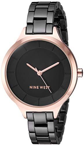 Reloj Nine West para Mujer 34mm, pulsera de Acero Inoxidable