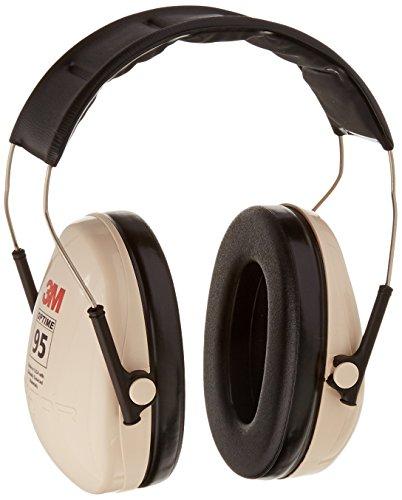 3M H6A/V Peltor H6A\V Optime 95 Orejeras de reducción de ruido sobre la cabeza, protección auditiva, protectores de oídos, NRR 21dB, ideal para tiendas de máquinas y herramientas eléctricas, color beige