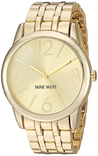 Reloj Nine West para Mujer 39mm, pulsera de Acero Inoxidable