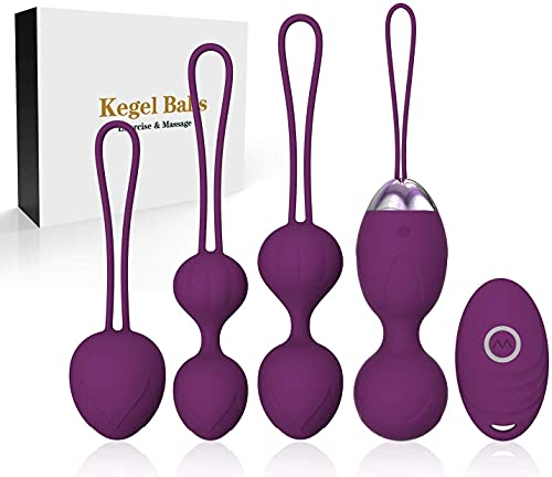 CARYWON Kegel bolas Pesas para ejercicios Kegel - Masajeador 2 en 1 Bolas Ben Wa para principiantes Control remoto inalámbrico inalámbrico con masajeador Masajeador recargable para el suelo pélvico Ejercicio Kegel