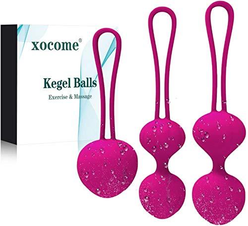 Bolas Chinas Suelo Pelvico de Silicona Medica Bolas Chinas Terapeuticas Masajeador de la Salud Kegel Ejercitador Kegel Balls para Mujer