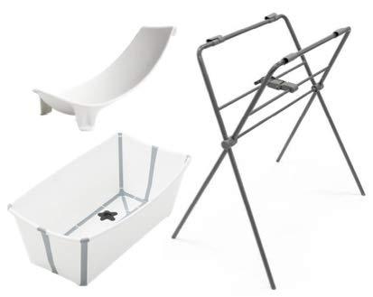 Stokke Flexi Bath, soporte para bebe y stand Blanco Gris