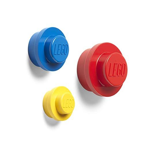 Room Copenhagen 40161732 Lego - Colgador de pared, talla única, color rojo, azul y amarillo