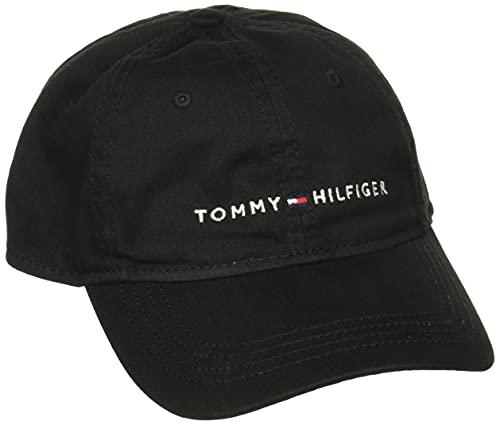 tommy hilfiger Men 's Logo papá gorra de béisbol, Negro (Tommy Black), Talla única