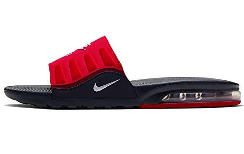 Nike Air Max Camden Slide Sandalia para hombre, Negro/Rojo Universitario/Equipo Rojo/Blanco, 11