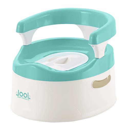 Silla de entrenamiento para niños y niñas, asas y protector contra salpicaduras – Asiento cómodo para niños – Jool Baby (Aqua)
