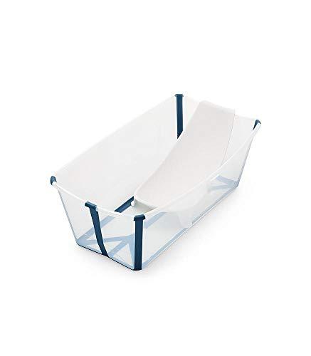 Bañera Stokke Flexibath con soporte para bebe Transparente - Azul
