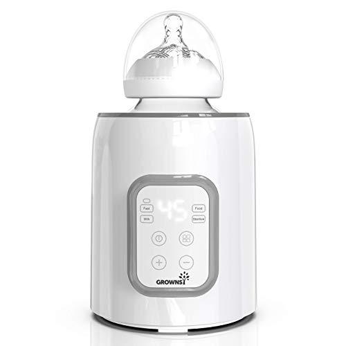 Calienta Biberones para Bebé, Esterilizador de Botella 5 en 1 Calentador y Descongelador Rápido para Alimentos del Bebé Conservador sin BPA con Pantalla LCD Control Preciso de Temperatura para Leche Materna o Fórmula