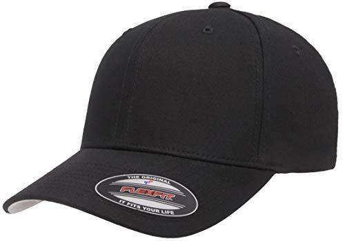 Flexfit Gorra Ajustable de Sarga de algodón, Negro, Large-X-Large