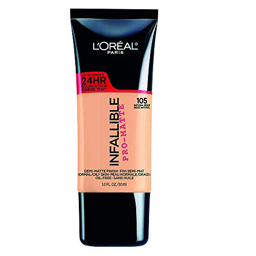 L'Oreal Paris L'oreal paris base de maquillaje infallible matte 24h, 105 natural beige, 30 ml Natural Beige 105