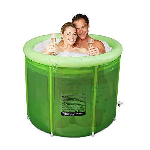 LYzpf Bañera Plegable Portable Grande de Barril del Baño Tina de Balde de Adultos Niños Bañera Cubo de Plástico Grueso