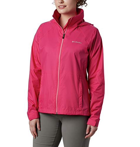 Columbia Chaqueta impermeable ajustable Switchback Iii para mujer, Rosa cactus, M