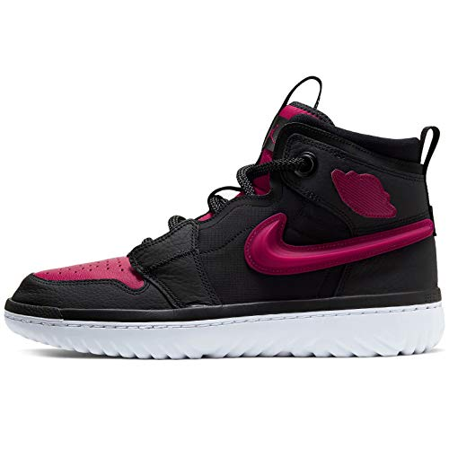 Nike Air Jordan 1 Alto React Hombres Ar5321-006, negro/noble rojo-blanco, 11