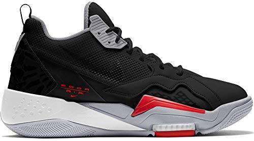 Air Jordan Zoom 92 Zapatillas de baloncesto para hombre, Negro/Rojo, 8.5 US