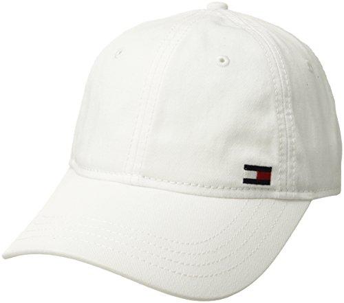 Tommy Hilfiger - Gorra de béisbol, Hombres , Blanco Clásico, Talla única