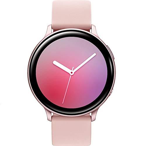 SAMSUNG Galaxy Watch Active2 (Correa de Silicona + Bisel de Aluminio) Bluetooth – Internacional (Oro Rosa, R820-44 mm)