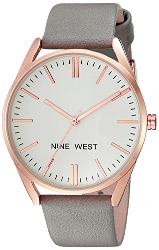 Reloj Nine West Spring Summer 2017 para Mujer 36mm, pulsera de Piel de Becerro