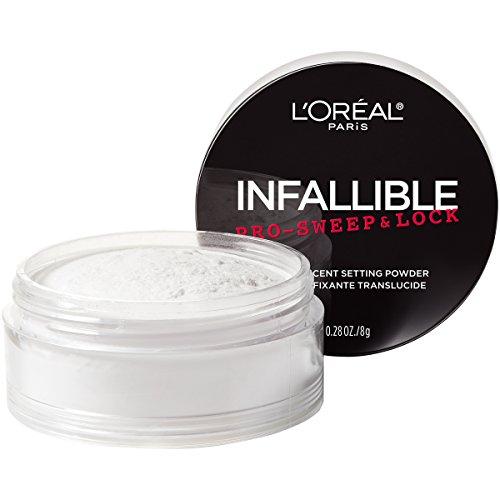 L'Oreal Paris Maquillaje Infallible Pro-Sweep & Lock Loose Matte Setting Face Powder, Translúcido, 1 pieza