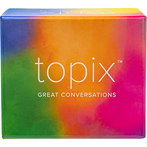 TOPIX - 424 conversaciones para principiantes y tarjetas de conversación de cena familiar y citas Noche Temas para rompehielos. Preguntas poco comunes estimulan la reflexión para parejas casadas o viejos amigos, recuerde nuestros mejores momentos