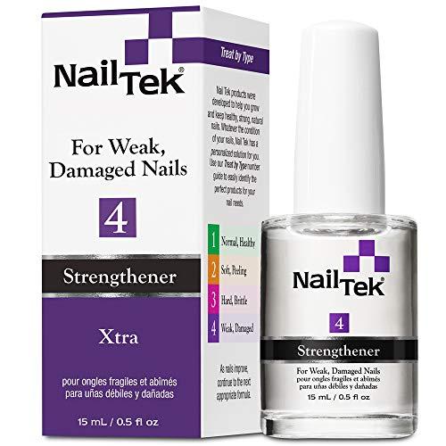 Nail Tek Xtra 4, - Fortalecedor De Uñas – Para Uñas Débiles – Y Uñas Dañadas, 0.5 Oz, 1 Unidad
