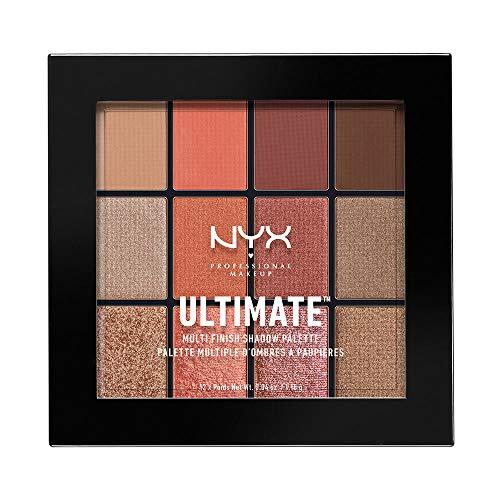 Paleta de sombras,Ultimate Shadow Palette, Nyx Professional Makeup, Tono Warm Rust 14 g