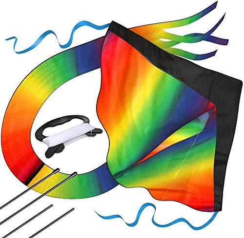 AGREATLIFE Kite Cometa Gigante a la Venta – Flota en la Brisa – Velas perfectas para niños, fácil de Volar – liviano y Estable   100% garantía de devolución de Dinero