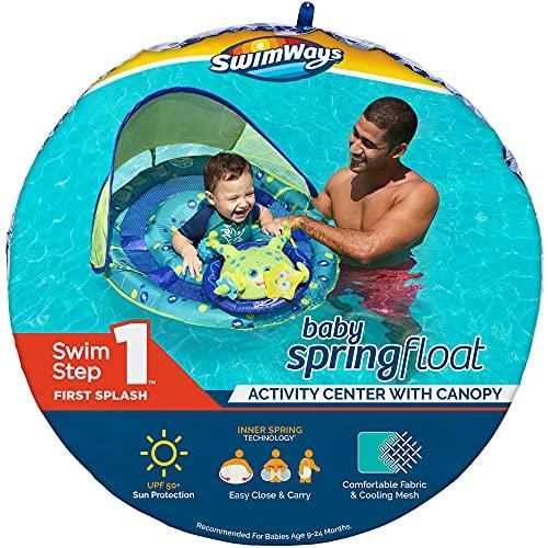 Flotador Para Bebé Swimways Pulpo Con Sombrila