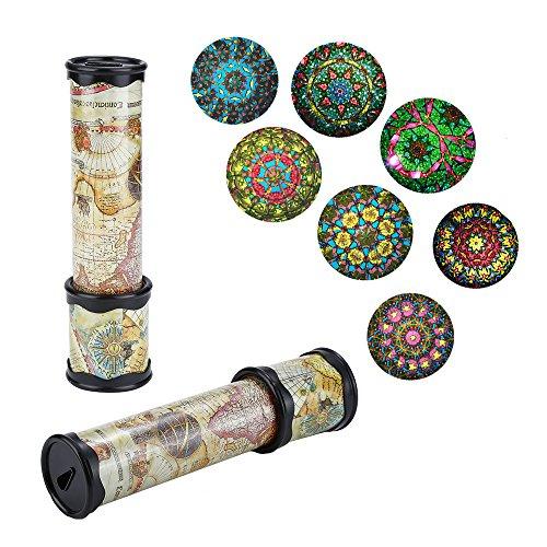 ZHONGLI Caleidoscopio mágico - Juguetes de plástico del Viejo Mundo para niños Juguetes educativos Regalo de cumpleaños Diviértase