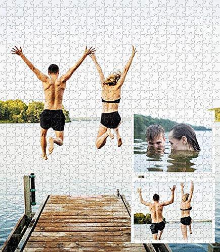 GDCB Custom Photo Jigsaw Puzzle 500Pcs Basswood Custon Foto Personalizada DIY Rompecabezas Juguetes Regalo Decoración para el hogar para niños pequeños, niños, Adultos, niños, niñas