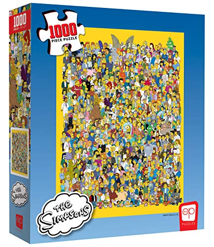 USAopoly Puzle de 1000 Piezas The Simpsons Cast of Thousands   Producto Oficial de Simpsons   Rompecabezas Coleccionable con Personajes Favoritos de los Simpsons de 20th Century Fox Television