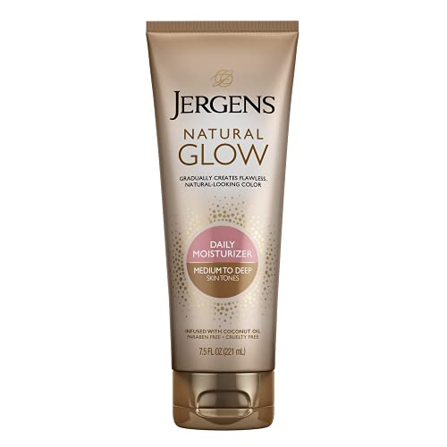 Jergens Natural Glow Face Revitalizing daily Moisturizer Medium to Tan Skin Tones by Jergens