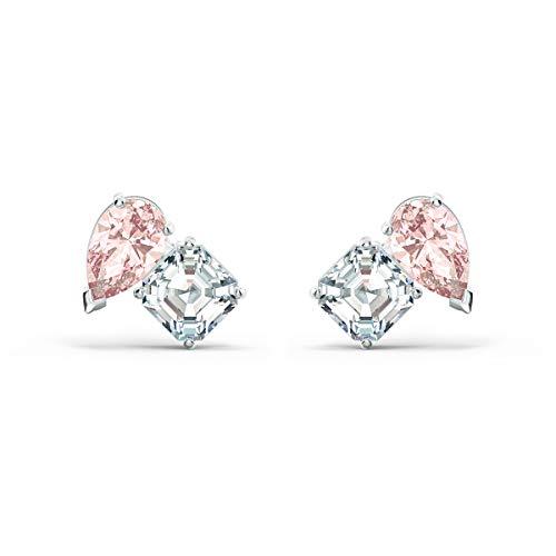 SWAROVSKI Colección de Joyas Attract Soul para Mujer, Cristales Rosados, Cristales Transparentes, Mediano, Cristal, circonita,