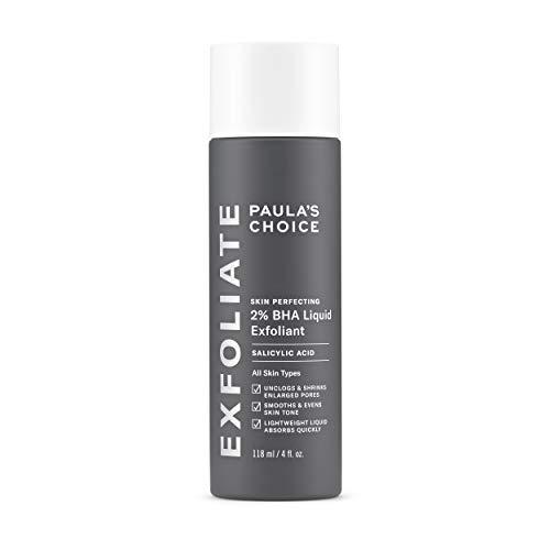 Paula's Choice Skin Perfecting - Líquido salicílico exfoliante 2% BHA, exfoliante facial para puntos negros, poros grandes, arrugas y líneas finas