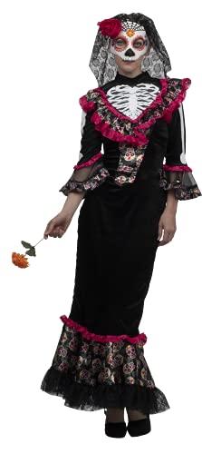 Madame Day of the Dead, Disfraz de Vestido de Catrina Mexicana Colorida para Mujer Talla M, Disfraces de Catrinas Ideales para Halloween y Día de Muertos