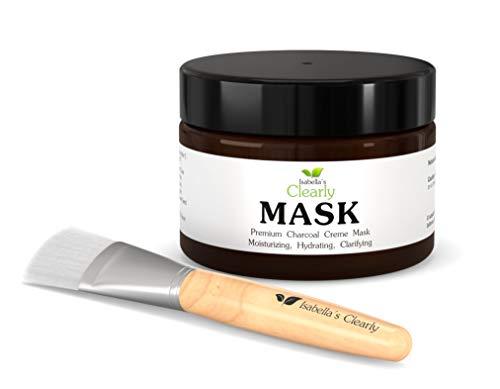 Clearly MASK con Hidratos de Carbón, Aclara la Piel. Elimina puntos negros, Limpieza profunda de poros. Ácido Hialurónico Anti Envejecimiento, Rooibos Rico en Antioxidantes, DMAE Tonificante, Vitaminas C, E, B5. Natural y Orgánico.