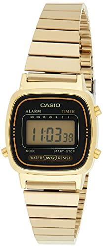 Reloj Casio Digital para Mujer, pulsera de Acero Inoxidable