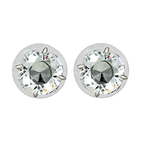 Rhodium-Plated Stud Earrings