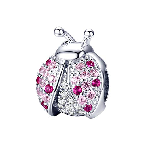 Eternalll Jewellery - Dije original de 100% plata esterlina 925 con diseño de animal, para cumpleaños, para pulseras Pandoras y dijes de bricolaje, Plata esterlina,