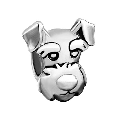LuckyJewelry Dog Lucky Cute Puppy Face Animal Charms New Sale Cheap Funny Beads Fit Pandora Bracelet