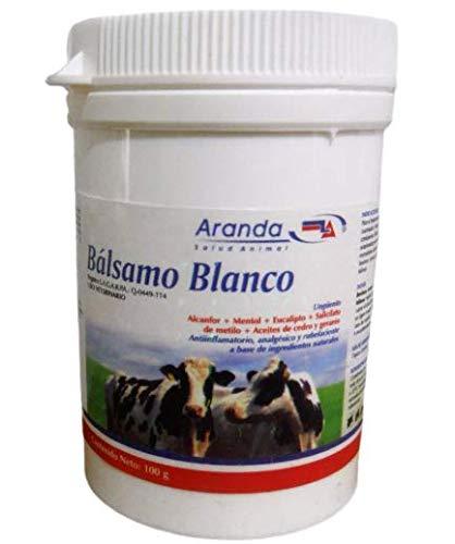 Bálsamo Blanco 100gr - Ungüento con desinflamatorio, analgésico (Quita Dolor) y rubefaciente, Pomada para Lesiones musculares y articulaciones.