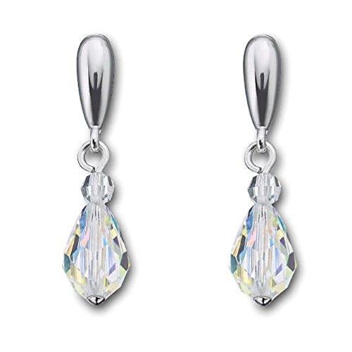 Swarovski Crystal Thomy Crystal Aurora Boreale Pierced Earrings