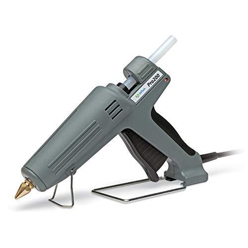 AdTech Pistola de pegamento termofusible de alta potencia industrial tamaño completo – Pistola de pegamento caliente de grado profesional para carpintería, reparaciones y remodelación, gris, 200 vatios – 189