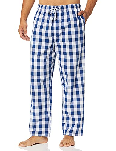 Nautica - Pantalón de Pijama para Hombre, Tejido Suave, 100% algodón elástico, Azul Depths, Medium
