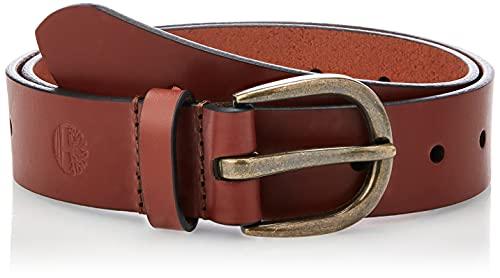 Timberland Cinturón de cuero casual para mujer para pantalones vaqueros, café (Oval), Medium (30-34)