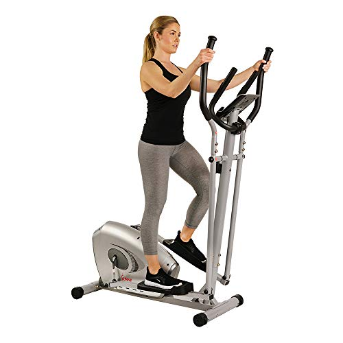 Máquina Elíptica Bicicleta Elíptica Magnética con Pantalla LCD y Monitor de Pulso Cardiaco Cardíaca SF-E3607 Sunny Health & Fitness
