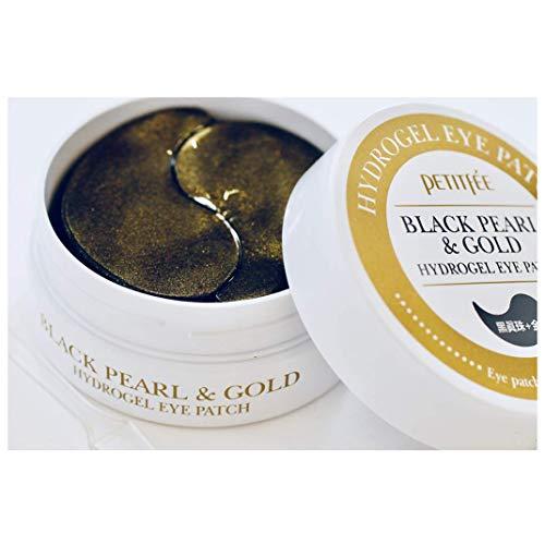 Parches Mascarillas para Ojos de Perla Negra y Oro Petitfee - Black Pearl & Gold Hydrogel Eye Masks