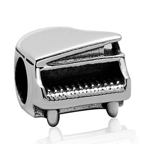 Piano Charm 925 Sterling Silver Music Charm Art Melody Charm for Pandora Charms Bracelet (Piano)