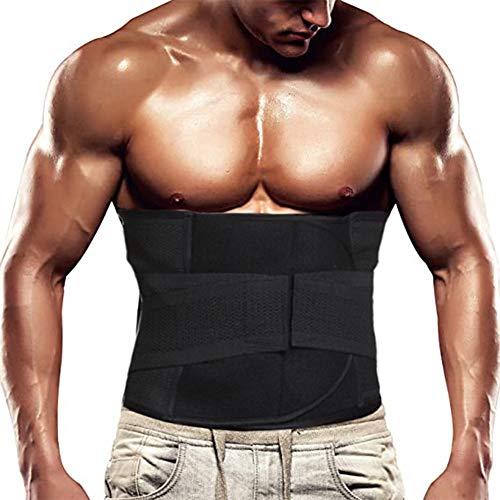 AXIDUN Cinturón Reductor de Cintura de Neopreno para Quemar Grasa para Sauna - Promueve el Sudor Saludable, pérdida de Peso, Postura Inferior de la Espalda, tamaño para Hombres